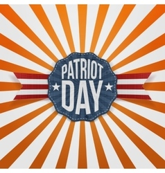 Patriot day text on paper badge vector