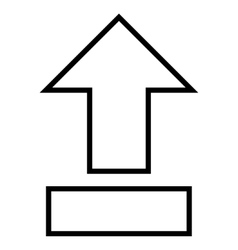 Pull arrow up thin line icon vector
