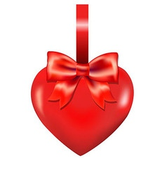 Red Heart With Bow vector image vector image