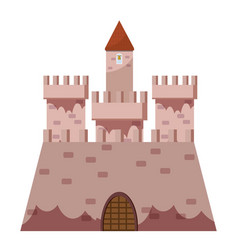 royal castle icon cartoon style vector image vector image