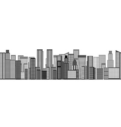 Skyline city seamless background vector