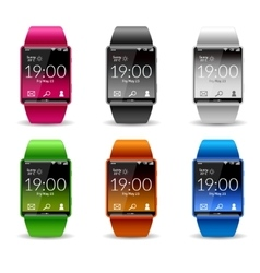 Smart Watch Icon Set vector image vector image