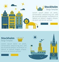 Stockholm banner design elements vector