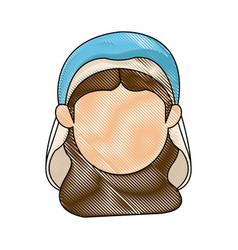 Virgin mary manger character design vector