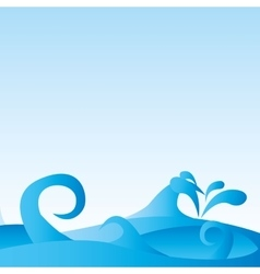 waves pattern background sea vector image vector image