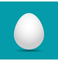 white Easter egg with shadow vector image vector image