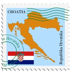 mail to-from Croatia vector image
