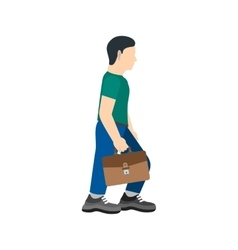 Walking with briefcase vector
