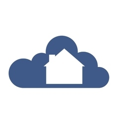 Cloud computing with house icon vector