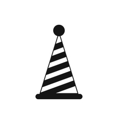 Party hat icon simple style vector