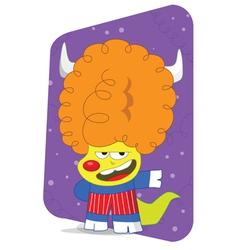 alien disco character vector image