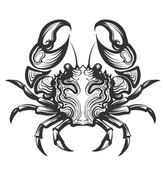 crab engraving vector image