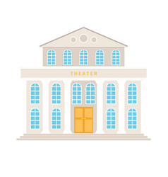 Theatre building with columns vector