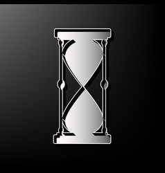 Hourglass sign gray 3d vector
