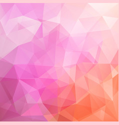 Abstract triangular mosaic pink background vector