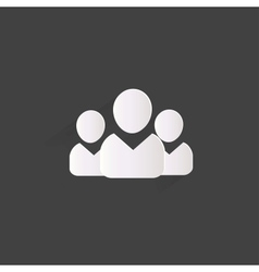 Group of people web icon vector