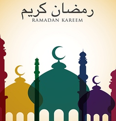 Mosque ramadan kareem generous ramadan card in vector