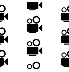 Camera symbol seamless pattern vector