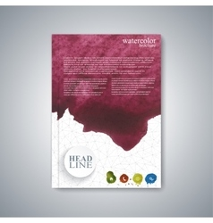 Watercolor template brochure magazine flyer vector