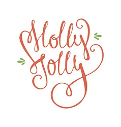Holly jolly vector