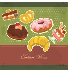 Dessert menu cover vector