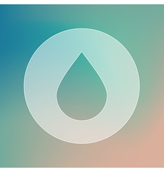 Water rain drop transparent icon weather vector