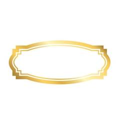 Gold frame beautiful golden design vector