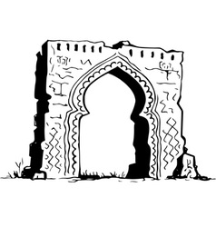 Ancient structure vector image