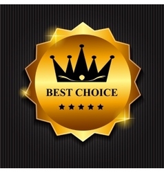 Best Choice Label with Ribbon vector image