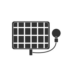 Black icon on white background solar battery with vector