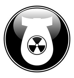 Bomb button vector