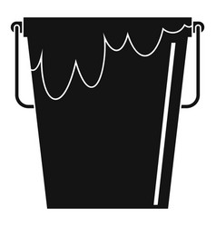 Bucket with glue icon simple style vector