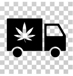 Cannabis delivery van icon vector