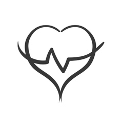 Cardio heart icon healthy lifestyle design vector