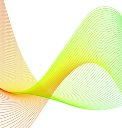 Color abstract wavy lines vector image vector image