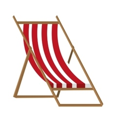 colorful beach chair with brown wood vector image