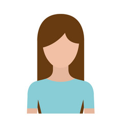 colorful silhouette faceless half body woman with vector image vector image