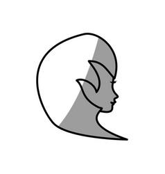 Cute profile woman avatar vector