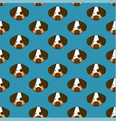 dog seamless on indigo blue background vector image vector image