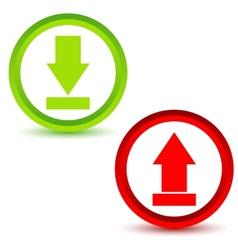 Download upload icons set vector