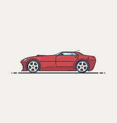 Fictional sport car vector