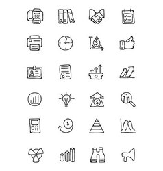 Finance hand drawn doodle icons 4 vector