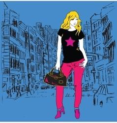 Graphic trendy women vector image vector image