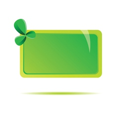 green table with leave vector image