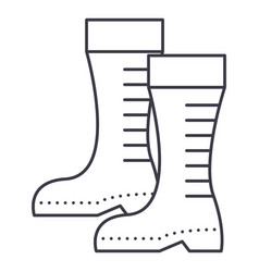 gumboots line icon sign on vector image vector image