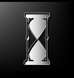 Hourglass sign gray 3d vector