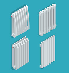 isometric white heating radiator home climate vector image