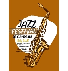 Jazz poster vector image