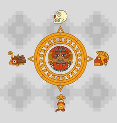 Maya calendar design vector