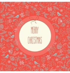 Merry Christmas New Year decoration elements vector image